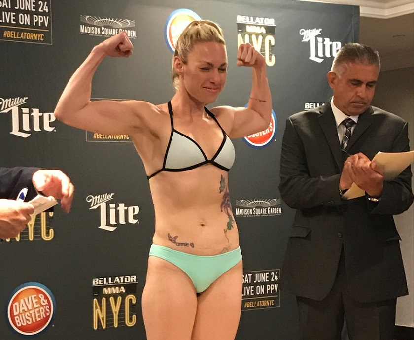 Heather Hardy, Bellator 185 weigh-in stream