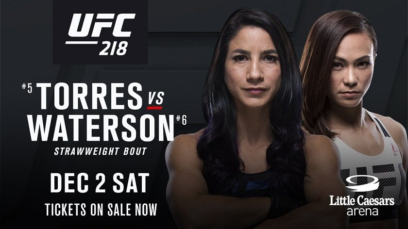 Tecia Torres vs Michelle Waterson added to UFC 218 in Detroit