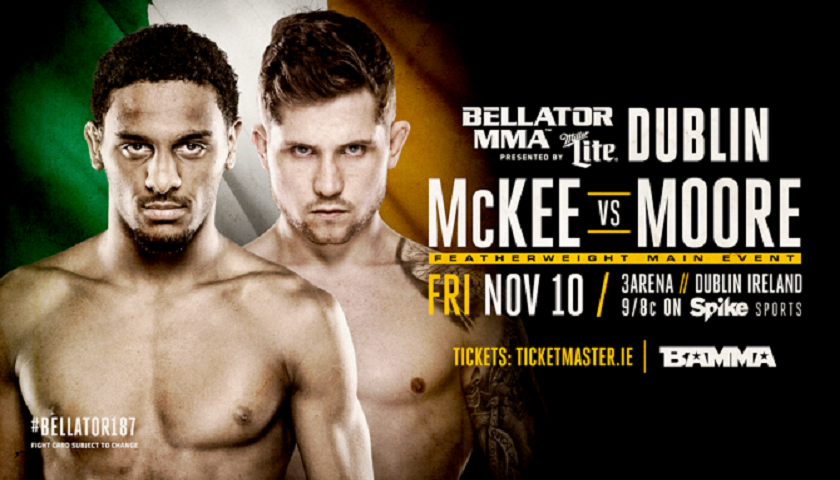 A.J. McKee Replaces James Gallagher in Bellator 187 Main Event, 'Baby Slice' & Sinead Kavanagh Also Added to Dublin Card