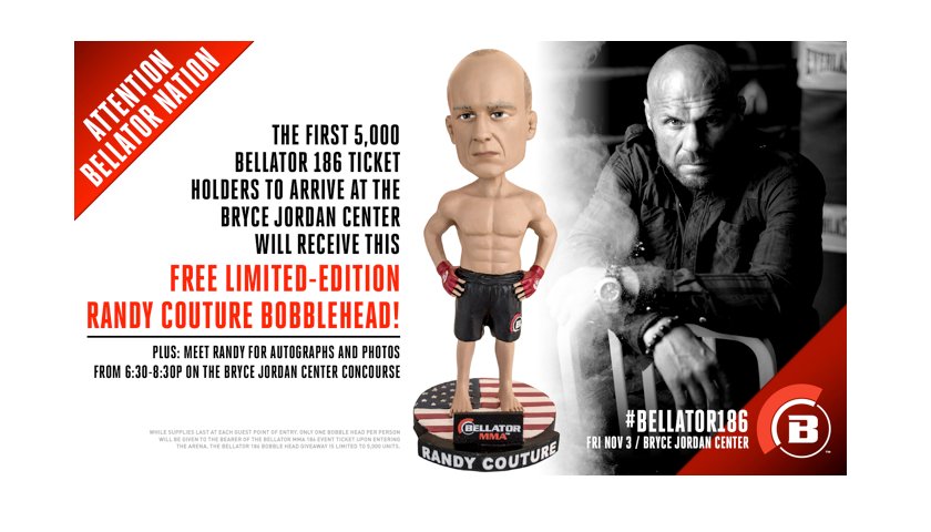 Limited-Edition Randy Couture Bobblehead to be Released at Bellator 186 on Nov. 3