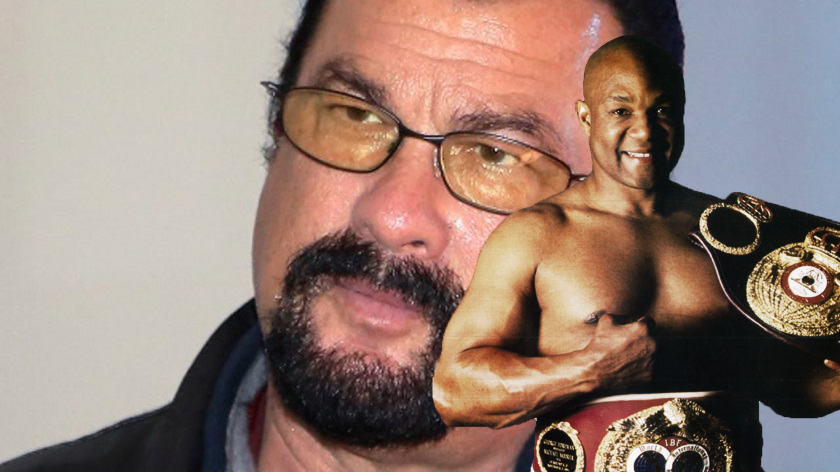 68-year old George Foreman challenges 65-year old Steven Seagal to fight