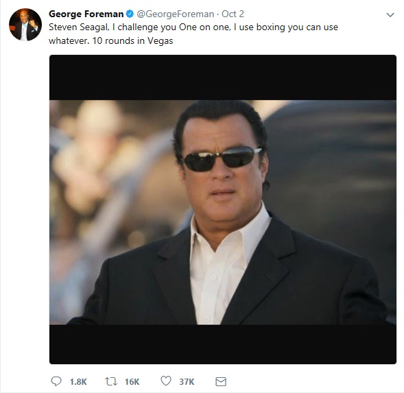 George Foreman tweet