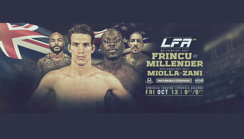 LFA 24 Results – Curtis Millender vs Matthew Frincu, plus Mackenzie Dern flyweight debut