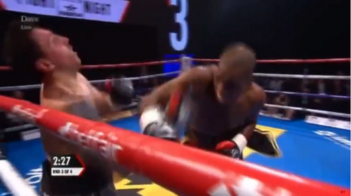 VIDEO:  Michael 'Venom' Page knocks opponent out in pro boxing debut