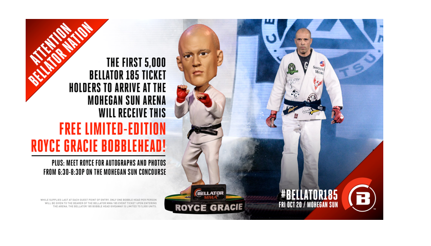 Limited-Edition Royce Gracie Bobblehead to be Given Away at Bellator 185 on Friday, Oct. 20