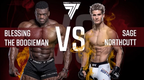 VIDEO: Sage Northcutt takes on bodybuilder Blessing Awodibu