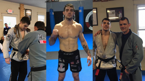 Joe Solecki surprised with BJJ Black Belt promotion upon return home