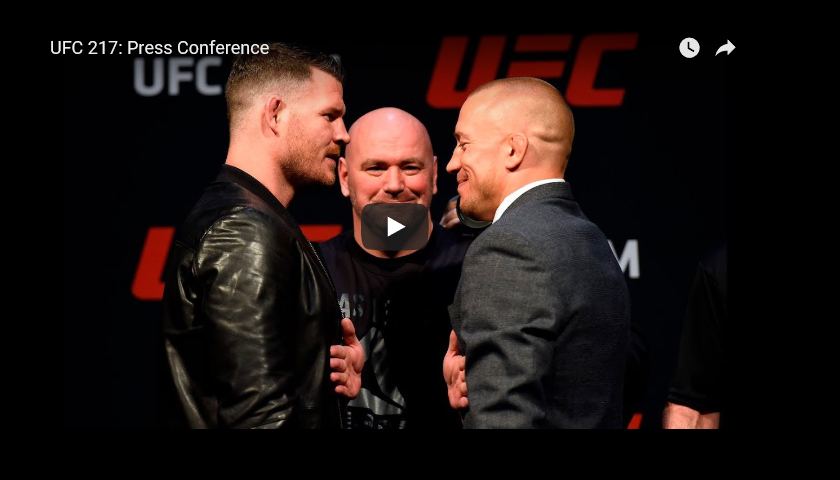 WATCH: UFC 217 Press Conference - Bisping vs. St-Pierre