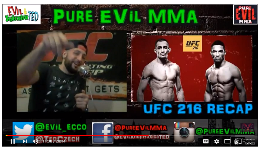 UFC 216 Post Fight Show - Pure EVil MMA Podcast