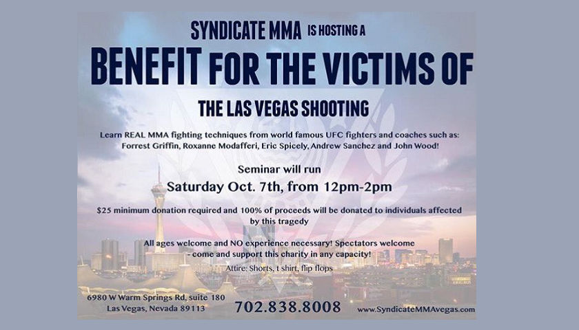 Syndicate MMA to hold seminar benefiting victims of Las Vegas shooting