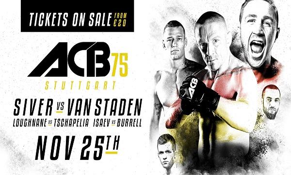 ACB 75 – Dennis Siver vs. Martin van Staden Free Live Stream