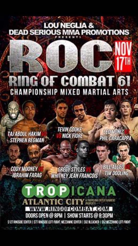 Ring Of Combat 61, Whitney Jean-Francois