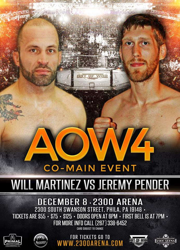 Will Martinez, Art of War Cage Fighting 4, AOW4