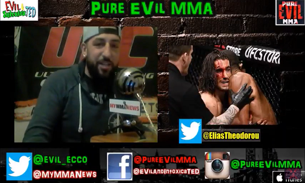 Elias Theodorou talks win over Daniel Kelly – Pure EVil MMA Podcast