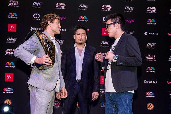 Ben Askren faces off with Shinya Aoki