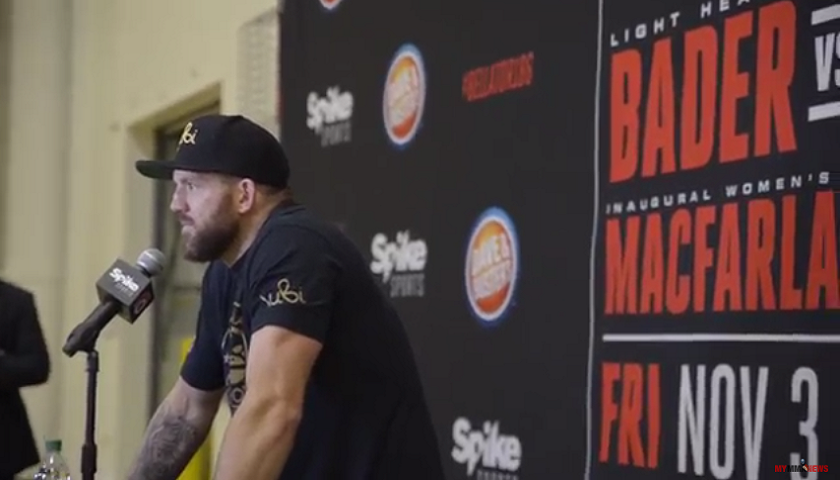 Ryan Bader, Bellator 186 post fight media scrum