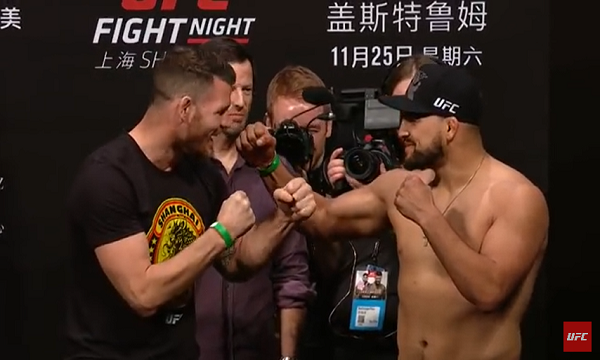 UFC Fight Night 122 weigh-in results – Bisping vs. Gastelum from Shanghai, China