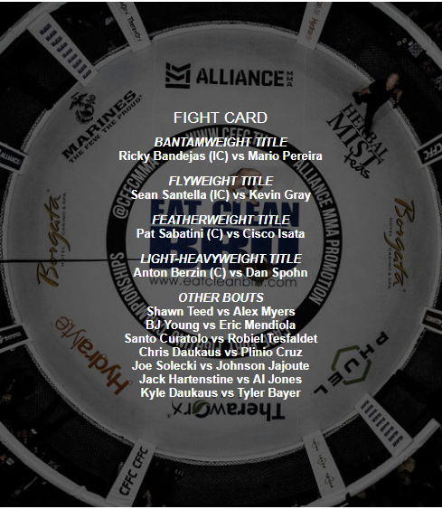 CFFC 69 fight card