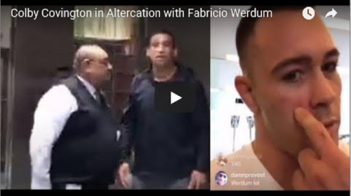 Colby Covington and Fabricio Werdum get into altercation – VIDEO
