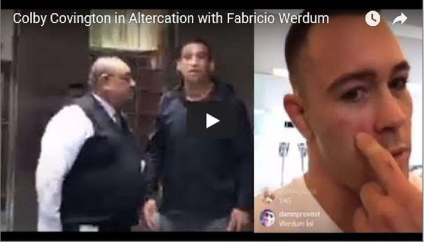 Colby Covington and Fabricio Werdum get into altercation - VIDEO