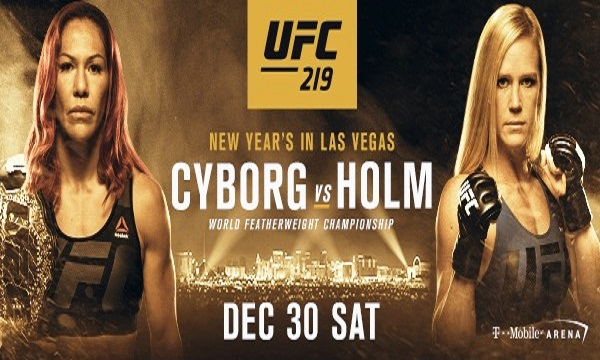 UFC Ends 2017 With a Blockbuster Title Bout Between Cris Cyborg and Holly Holm