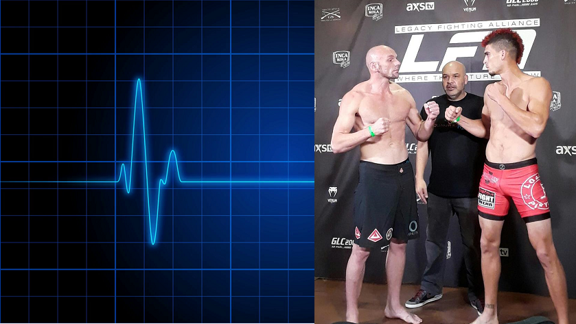 """CJ Hancock """"dies"""" in cage, revived by medical professionals at fight"""