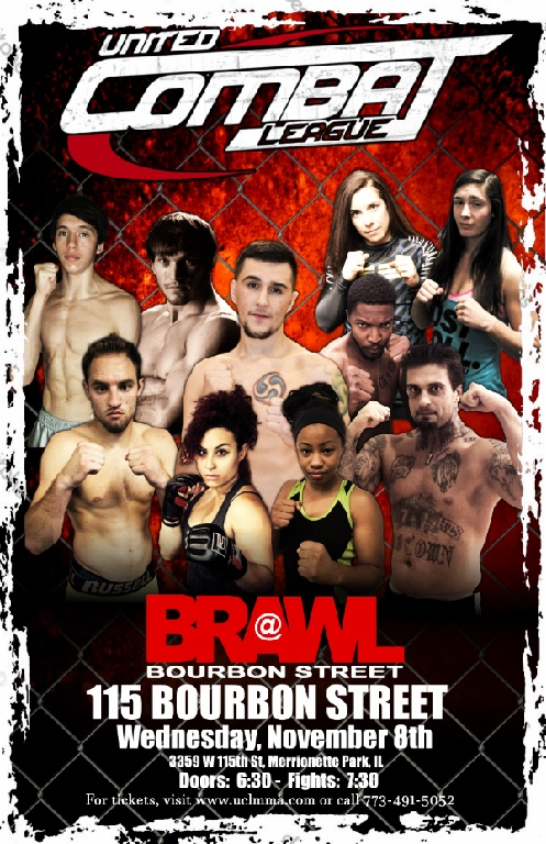 United Combat League - Brawl on Bourbon Street results