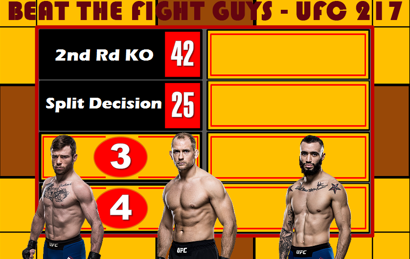 Beat the Fight Guys – UFC 217 featuring Zak Ottow, Jarred Brooks, and Shane Burgos
