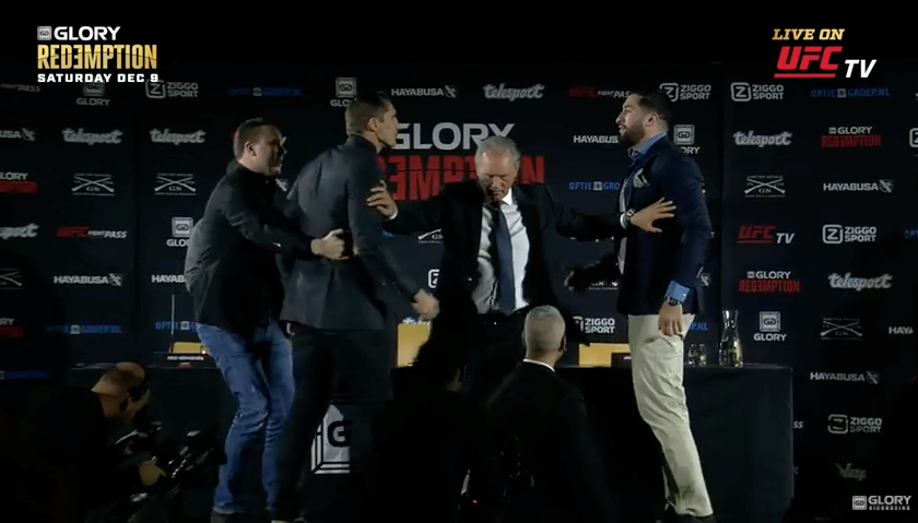 Rico Verhoeven and Jamal Ben Saddik square off at GLORY: Redemption presser