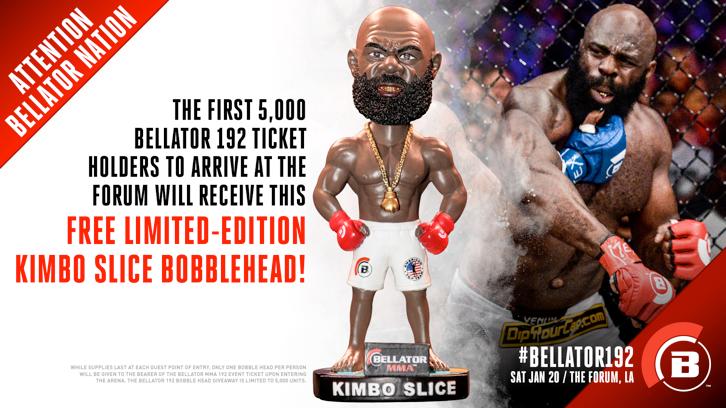 Kimbo bobblehead give away at Bellator 192, Jan. 20 in Los Angeles