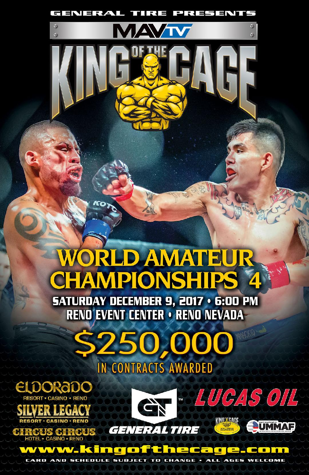 Fighters Announced for King of the Cage - World Amateur Championships 4