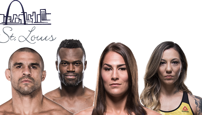 Vitor Belfort vs Uriah Hall, Jessica Eye vs Kalindra Faria announced for St. Louis