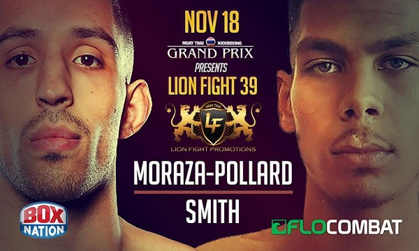 Chip Moraza-Pollard dominates on way to claiming two belts at Lion Fight 39 in London