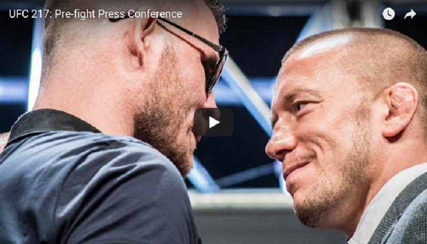 UFC 217 pre-fight press conference video