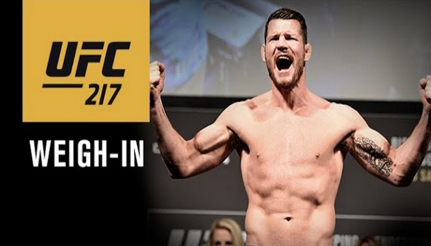 UFC 217 weigh-in results - Bisping vs. St-Pierre