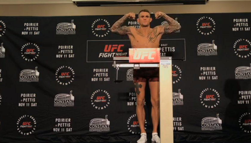UFC Fight Night 120 weigh-in results – Pettis vs. Poirier