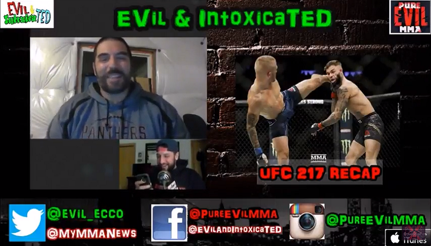 EVil and IntoxicaTED (Ep.61) UFC Norfolk Preview + Weekly MMA News Wrap Up