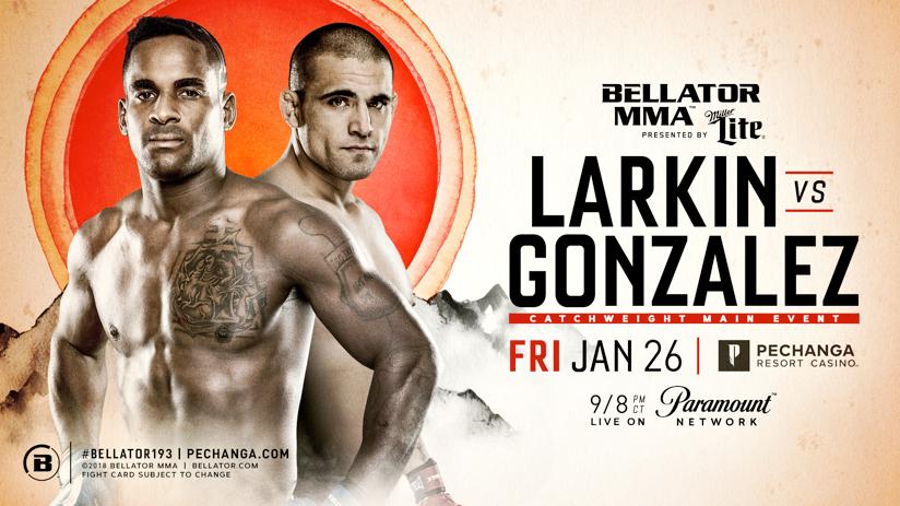 Lorenz Larkin Meets Fernando Gonzalez in the Main Event of Bellator 193 on Jan. 26