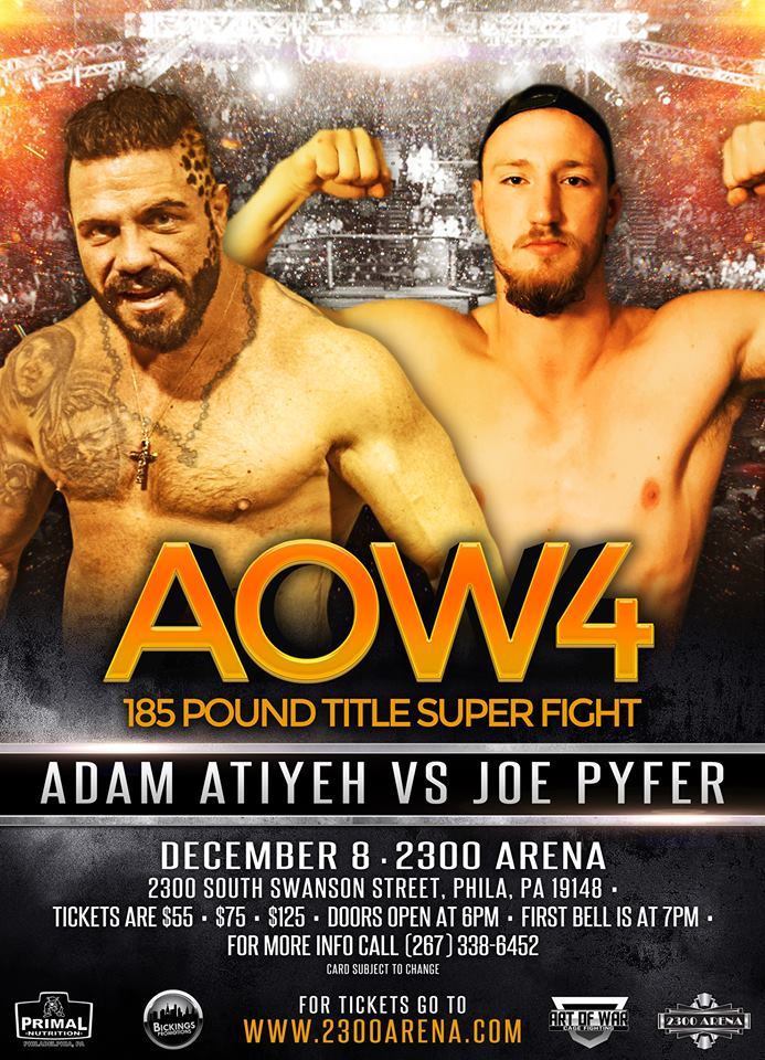 Joe Pyfer, Adam Atiyeh, Art of War Cage Fighting, AOW 4