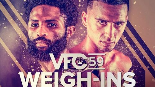 Weigh-In Results for Victory Fighting Championship VFC 59