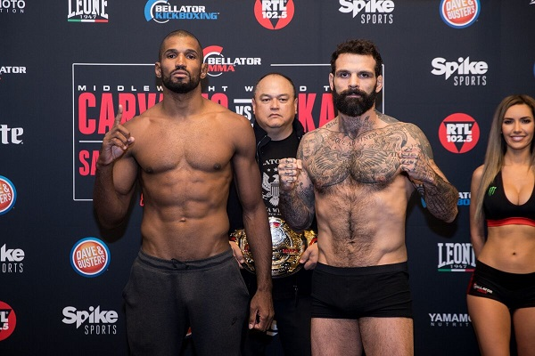 Bellator 190 and Bellator Kickboxing 8 weigh-in results from Italy