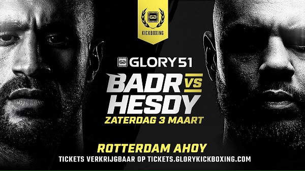 Badr Hari vs. Hesdy Gerges II Slated for GLORY 51 Rotterdam