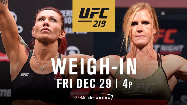 UFC 219 weigh-in results – Cyborg vs. Holm