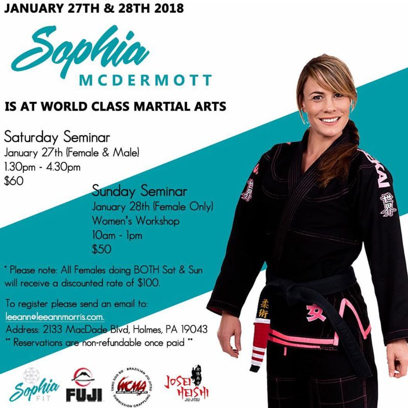 Sophia McDermott seminar at World Class Martial Arts