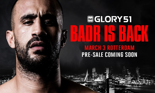 Badr Hari returns to headline GLORY 51 Rotterdam, March 3