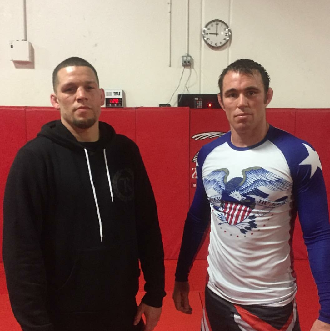 Nate Diaz (left) and Jake Shields