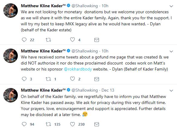 Matthew Kline Kader death