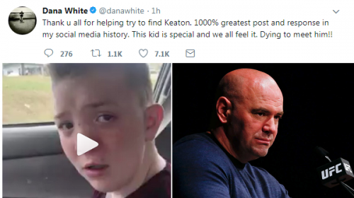 Dana White's campaign to meet bullied student, Keaton Jones, successful