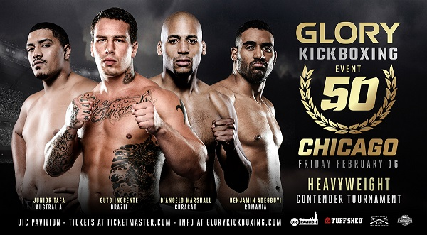 GLORY 50 heavyweight tournament highlighted by top-five talent