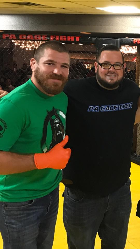 2017 Matchmaker of the Year, Paul Matreselva and UFC lightweight fighter Jim Miller